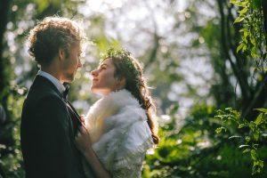 【婚紗】法國/外國/逆光/森林系/精靈/空氣感/花環/花冠/自助婚紗/大光圈/淺景深